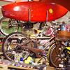 サーフボードキャリアをオプションで取り付けた自転車です