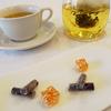 生チョコレート、ゼリーなど食後のコーヒーまたはハーブティーとご一緒に。