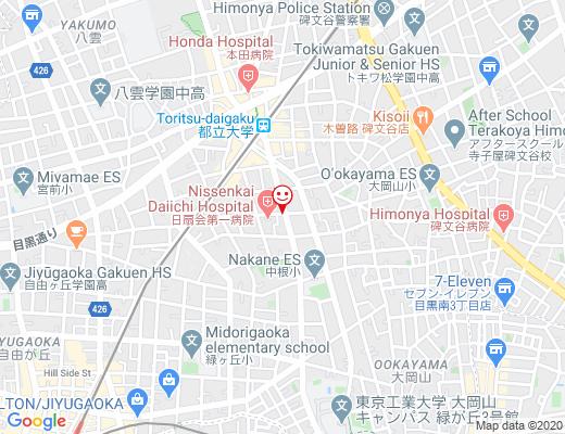 AMERICAN CLUB HOUSE 都立大学店 / アメリカンクラブハウスの地図 - クリックで大きく表示します