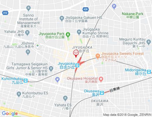 赤坂ラーメン 自由が丘店 / アカサカラーメンの地図 - クリックで大きく表示します