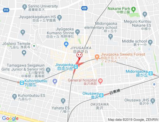 アパッペマヤジフ  自由が丘店の地図 - クリックで大きく表示します