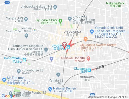 ブランジェ浅野屋 自由が丘店 / アサノヤの地図 - クリックで大きく表示します
