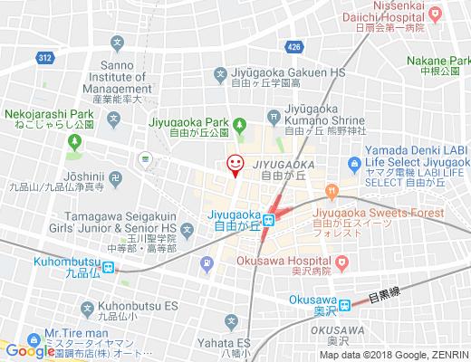Jiyugaoka BAKE SHOP / 自由が丘ベイクショップの地図 - クリックで大きく表示します
