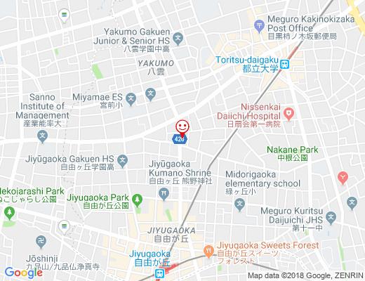 Canvas Cookies Jiyugaoka / キャンバスクッキーズの地図 - クリックで大きく表示します