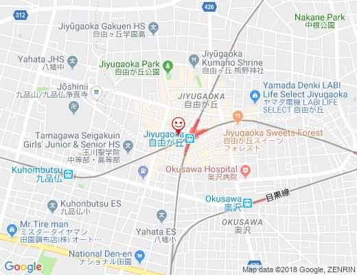 中華料理 帆 自由が丘店 / ちゅうかりょうり ほの地図 - クリックで大きく表示します