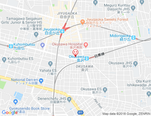 大龍 奥沢店 / ダイリュウの地図 - クリックで大きく表示します