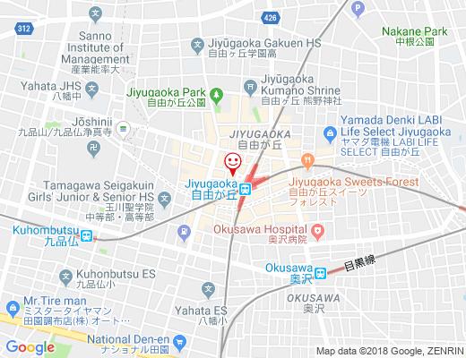 DALLOYAU 自由が丘本店 / ダロワイヨの地図 - クリックで大きく表示します