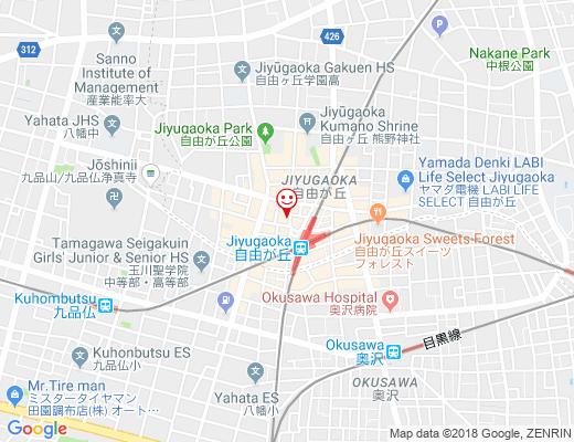 DanjoBi 自由が丘店 / ダンジョビの地図 - クリックで大きく表示します