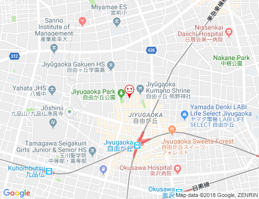 Fifi&Romeo Tokyo 自由が丘 / フィフィアンドロメオの地図 - クリックで大きく表示します