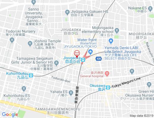 La Maison F 自由が丘店 / ラ メゾン エフの地図 - クリックで大きく表示します