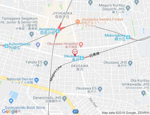 奥沢食堂 ghiotto / ギオットの地図 - クリックで大きく表示します