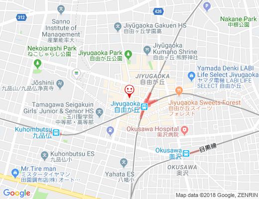 美食韓国 五味五彩 自由が丘 / ゴミゴサイの地図 - クリックで大きく表示します