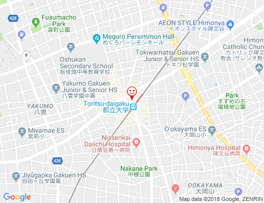 ヨガスタジオ HEART ONE 都立大店 / ハートワンの地図 - クリックで大きく表示します