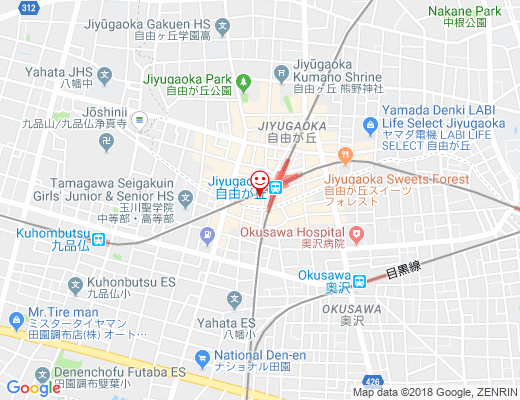 星乃珈琲店 自由が丘店 / ほしのコーヒー店の地図 - クリックで大きく表示します