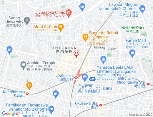 ISSEIDO JIYUGAOKA 一誠堂 / イッセイドウの地図 - クリックで大きく表示します