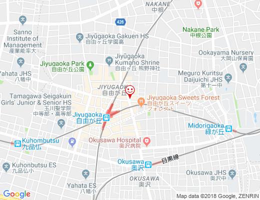 JIYUGAOKA BURGER / 自由が丘バーガーの地図 - クリックで大きく表示します