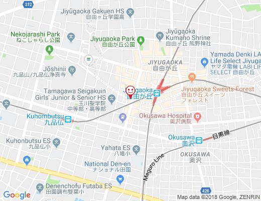 JUNO 自由が丘本店 / ジュノの地図 - クリックで大きく表示します