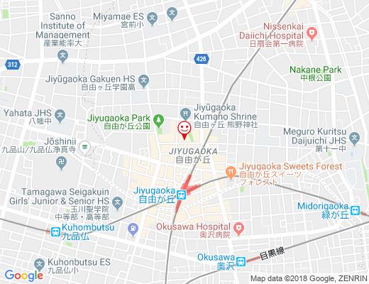 Juvi Juvi 自由が丘店 / ジュビジュビの地図 - クリックで大きく表示します