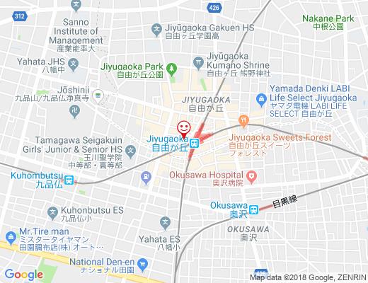 亀屋万年堂 自由が丘駅前店 / カメヤマンネンドウの地図 - クリックで大きく表示します