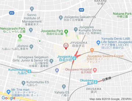KEYUCA 自由が丘ガーベラ通り店 / ケユカの地図 - クリックで大きく表示します