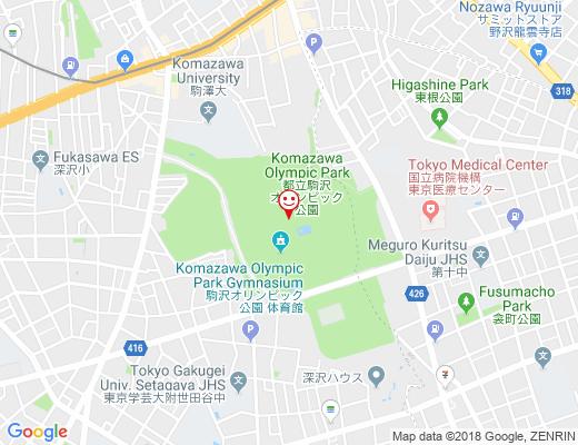 駒沢オリンピック公園の地図 - クリックで大きく表示します