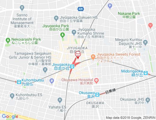 横浜家系ラーメン 魂心家 自由が丘店 / コンシンヤの地図 - クリックで大きく表示します