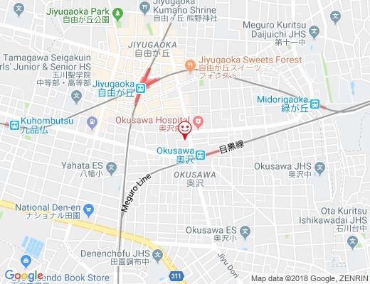 自由が丘サロン kotonoha / コトノハの地図 - クリックで大きく表示します