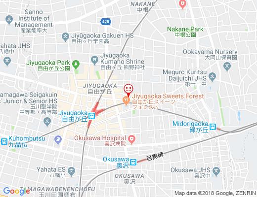 串カツ田中 自由が丘店 / クシカツタナカの地図 - クリックで大きく表示します