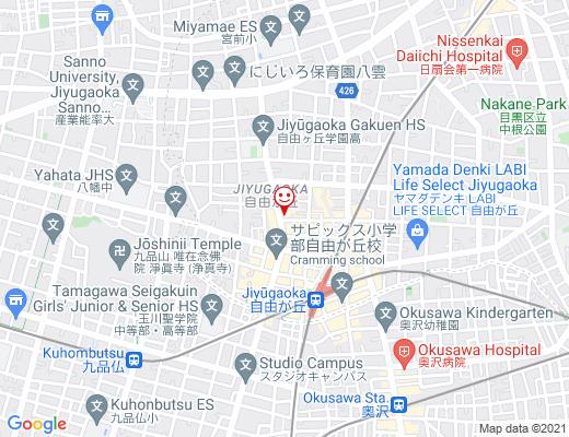 MANO 自由が丘店 / マーノの地図 - クリックで大きく表示します