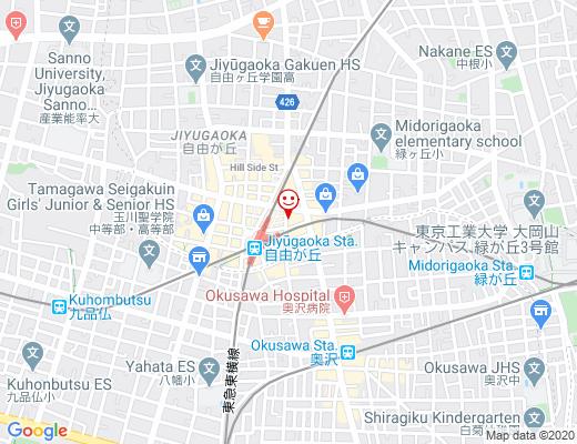 串かつ 名代 自由が丘店 ・ラーメン746 / なしろ、ラーメンナシローの地図 - クリックで大きく表示します