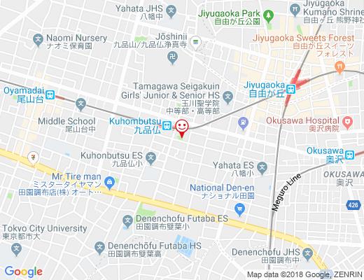 奥沢六丁目緑地の地図 - クリックで大きく表示します