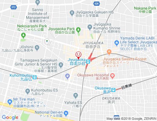 パンの田島 自由が丘店 / ぱんのたじまの地図 - クリックで大きく表示します