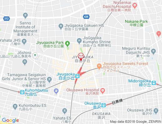 Petit Bateau / プチバトーブティック自由が丘店の地図 - クリックで大きく表示します