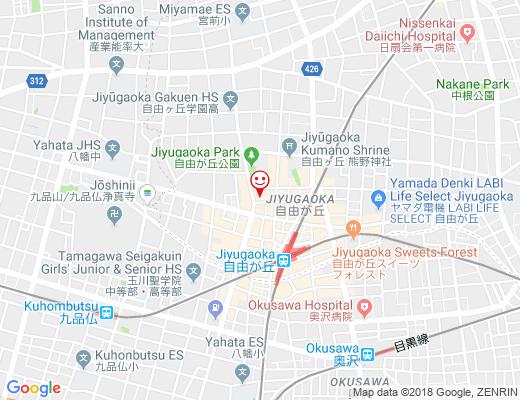 Salon de ROMANA 自由が丘店 / サロン ド ロマナの地図 - クリックで大きく表示します