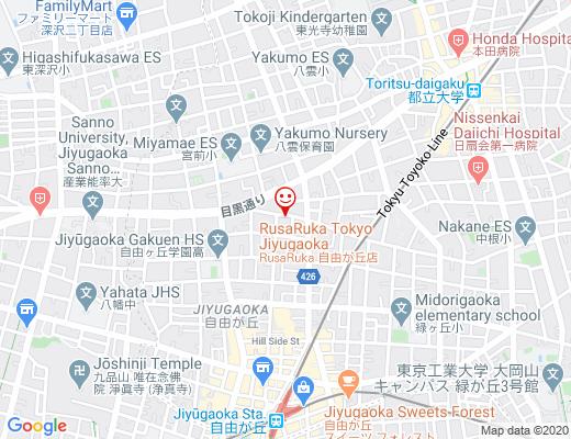 Pancakes Salon RusaRuka 東京自由が丘店 / ルサルカの地図 - クリックで大きく表示します