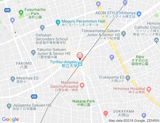 サカナバル 都立大駅店の地図 - クリックで大きく表示します
