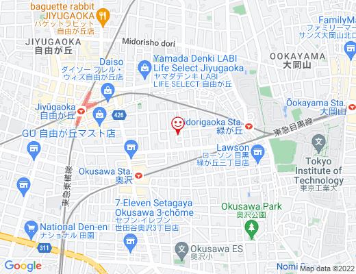 salon de chouchou JIYUGAOKA / サロンドシュシュ自由が丘の地図 - クリックで大きく表示します