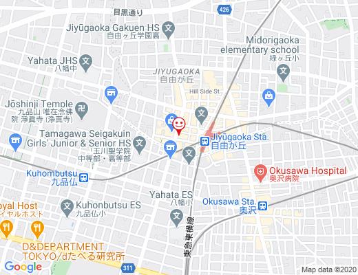 KASHIYAMA自由が丘店 / カシヤマの地図 - クリックで大きく表示します