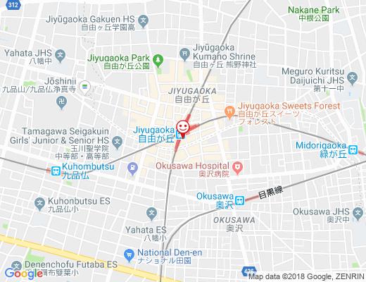 仙台辺見 自由が丘店 / せんだいへんみの地図 - クリックで大きく表示します
