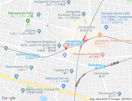 solregaro 自由が丘店 / ソルレガロの地図 - クリックで大きく表示します