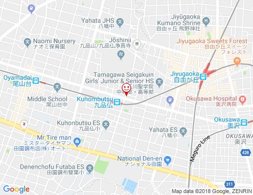 Souvenir 九品仏店 / スブニールの地図 - クリックで大きく表示します