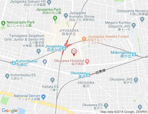 微熱山丘 SunnyHills To-Go at Jiyugaoka / サニーヒルズ自由が丘店の地図 - クリックで大きく表示します
