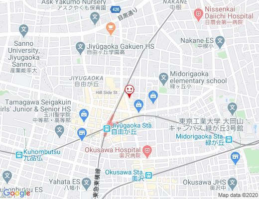 東京ガールズキッズチアダンススクール自由が丘校の地図 - クリックで大きく表示します