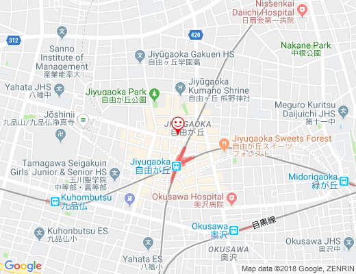 TOP to TOP / トップトゥトップ自由が丘店の地図 - クリックで大きく表示します