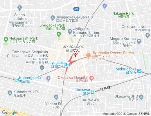 元祖 中華つけ麺大王 自由が丘店 / ツケメンダイオウの地図 - クリックで大きく表示します