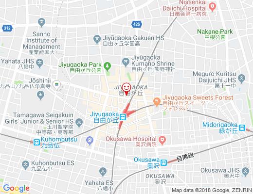 上島珈琲 自由が丘店 / ウエシマコーヒーの地図 - クリックで大きく表示します