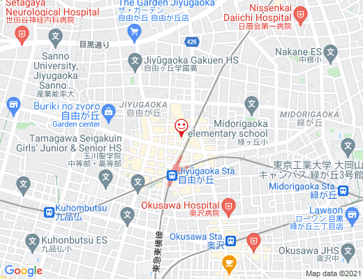 X BODY Lab Beauty+ 自由ヶ丘 / エックス ボディ ラブ ビューティプラスの地図 - クリックで大きく表示します