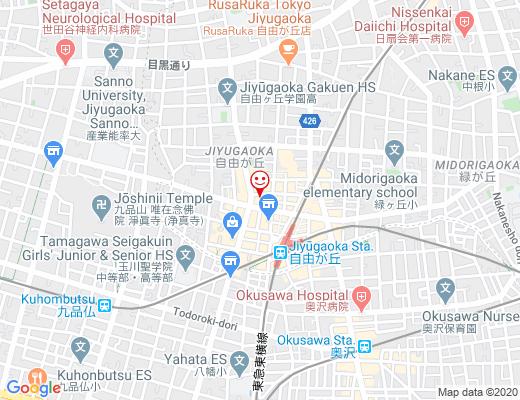 YARRA 自由が丘店 / ヤラの地図 - クリックで大きく表示します
