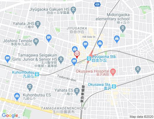 YATSUDOKI 自由が丘 / ヤツドキの地図 - クリックで大きく表示します